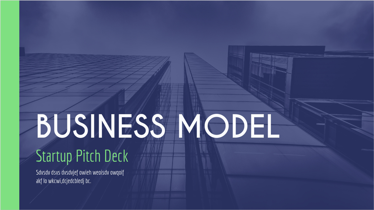 Business-Model-Presentation-Template presentation theme
