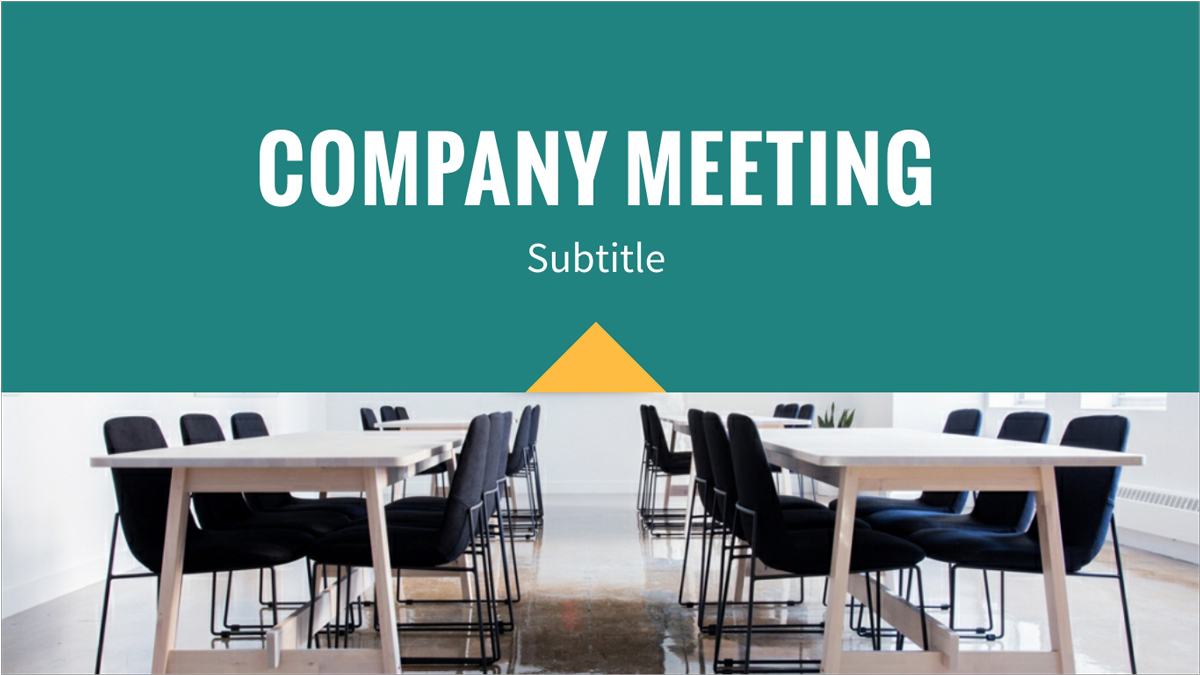 Company-Meeting-Presentation-Template presentation theme