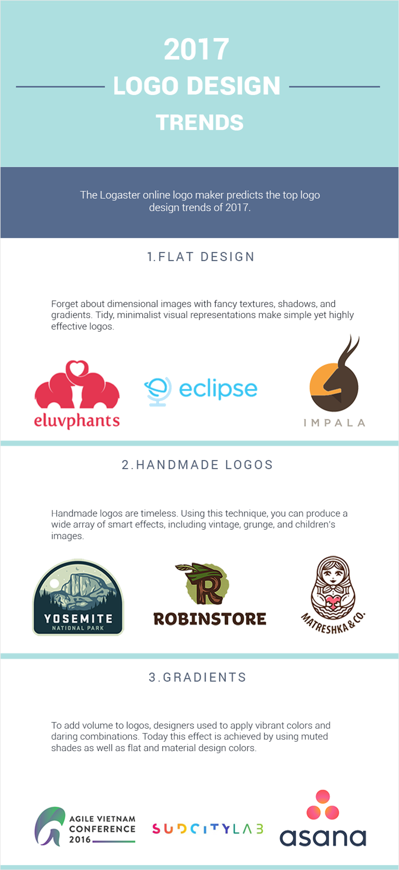 Graphic Design Logo Trends Infographic