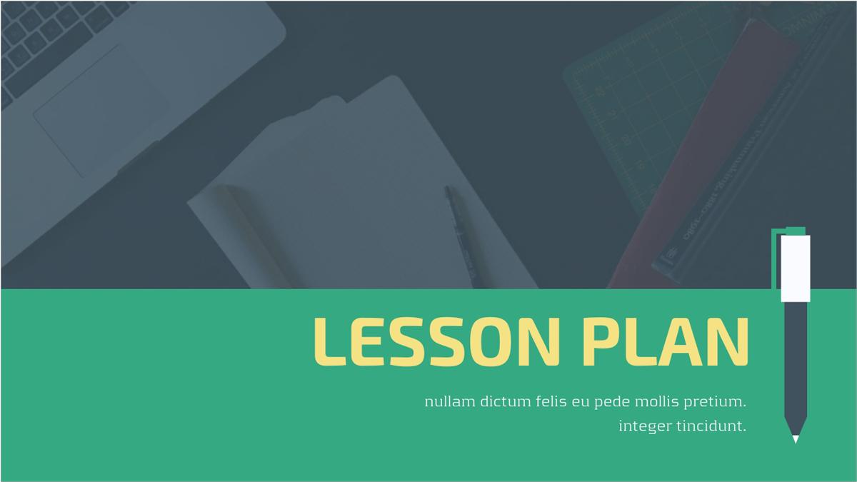 Lesson-Plan-Presentation-Template presentation theme