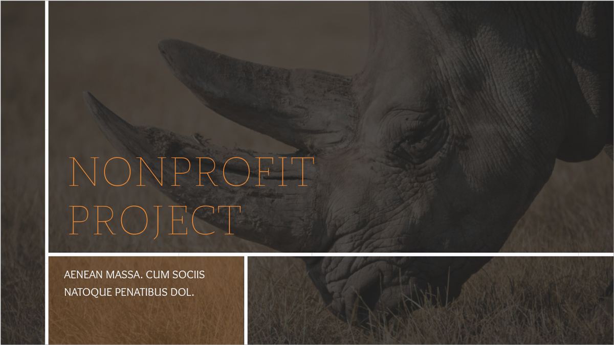 Nonprofit-Animals-Presentation-Template presentation theme