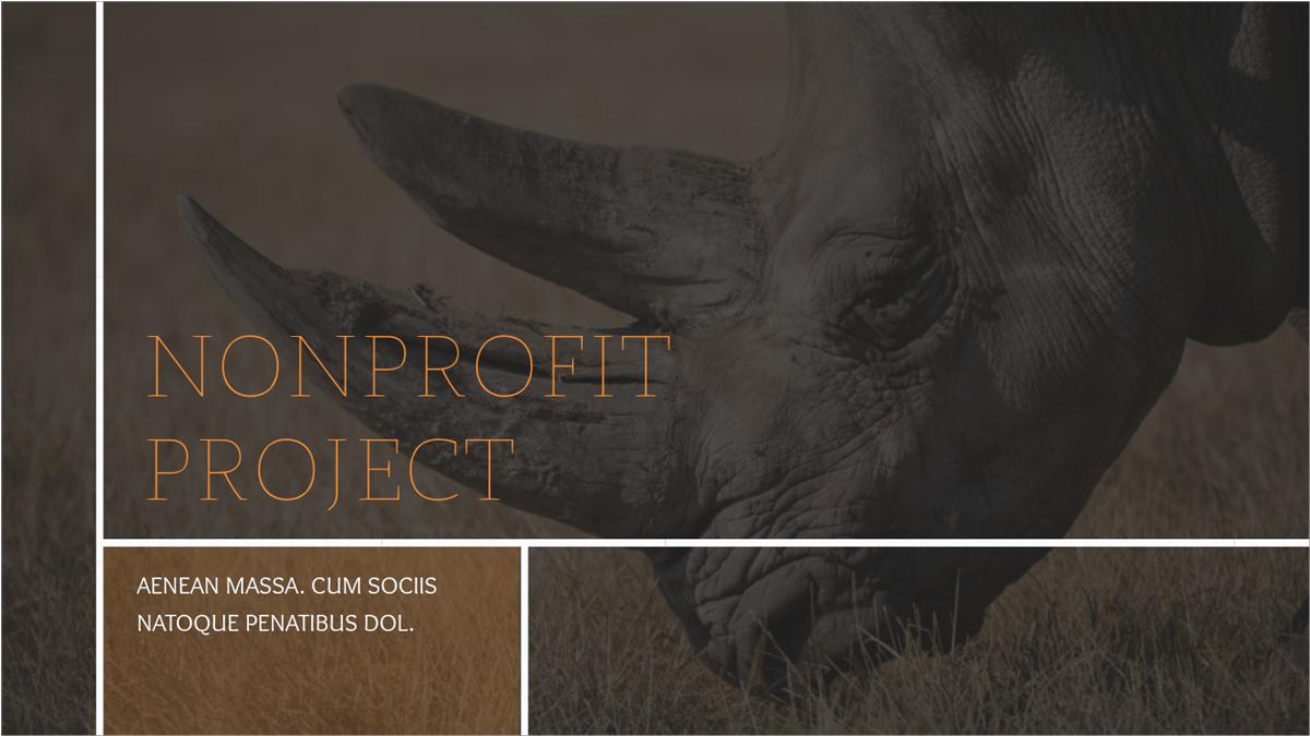Nonprofit-Animals-Presentation-Template presentation theme