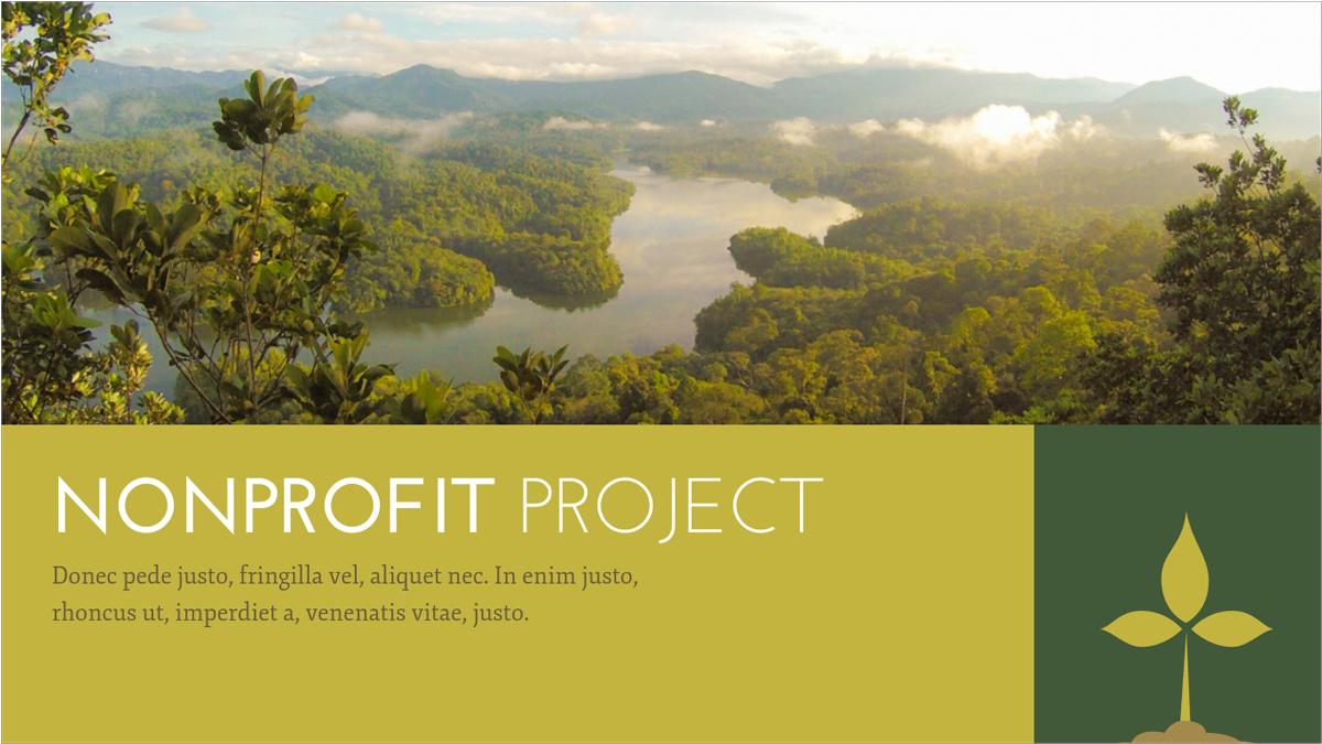 Nonprofit-Environmental-Presentation-Template presentation theme