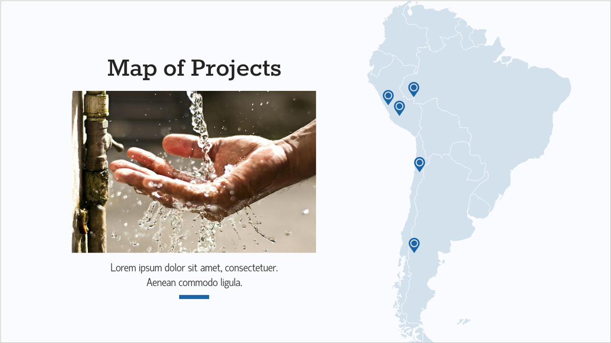 Nonprofit-Report-Presentation-Template-Map-of-projects presentation theme