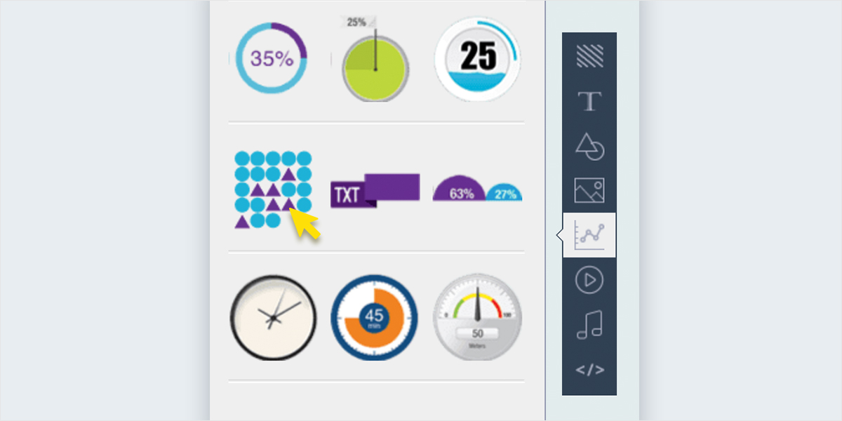Pictographs-and-Icon-Arrays-in-Visme-toolbar pictograph maker