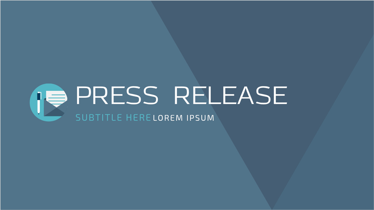 Press-Release-Presentation-Template presentation theme