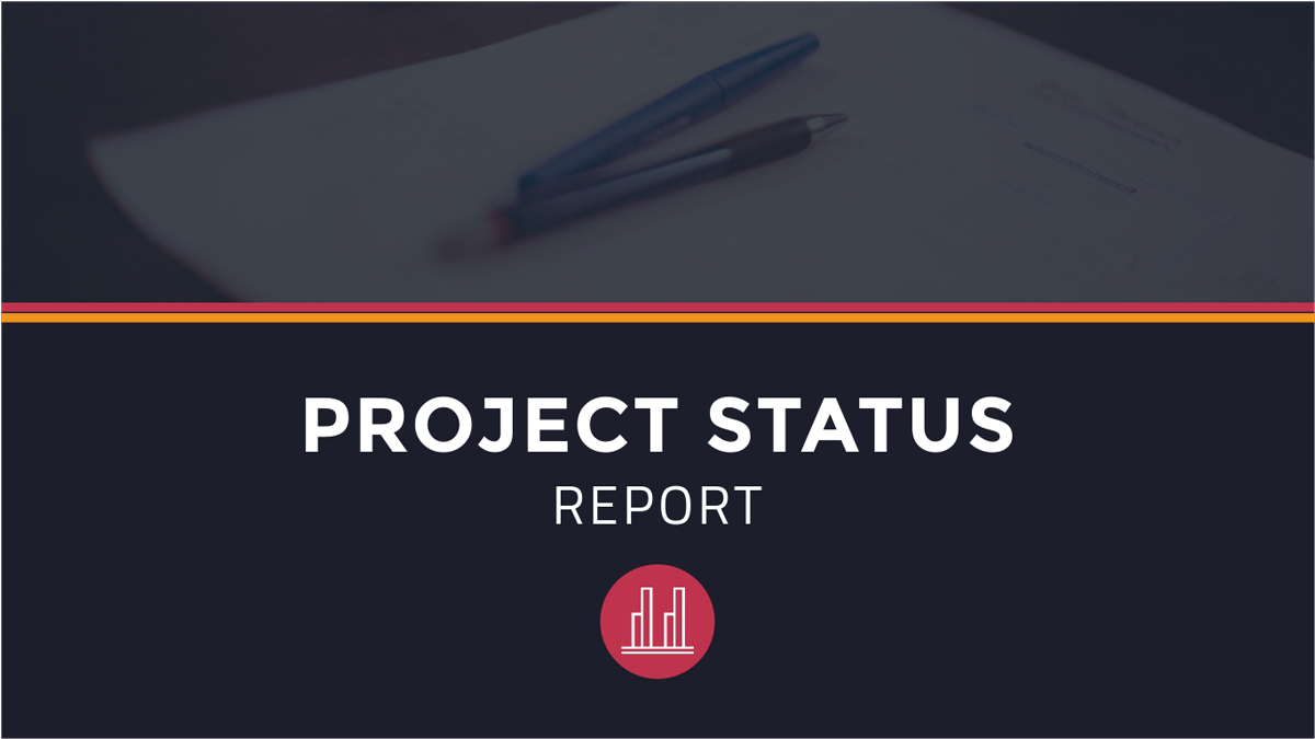 Project-Status-Presentation-Template presentation theme