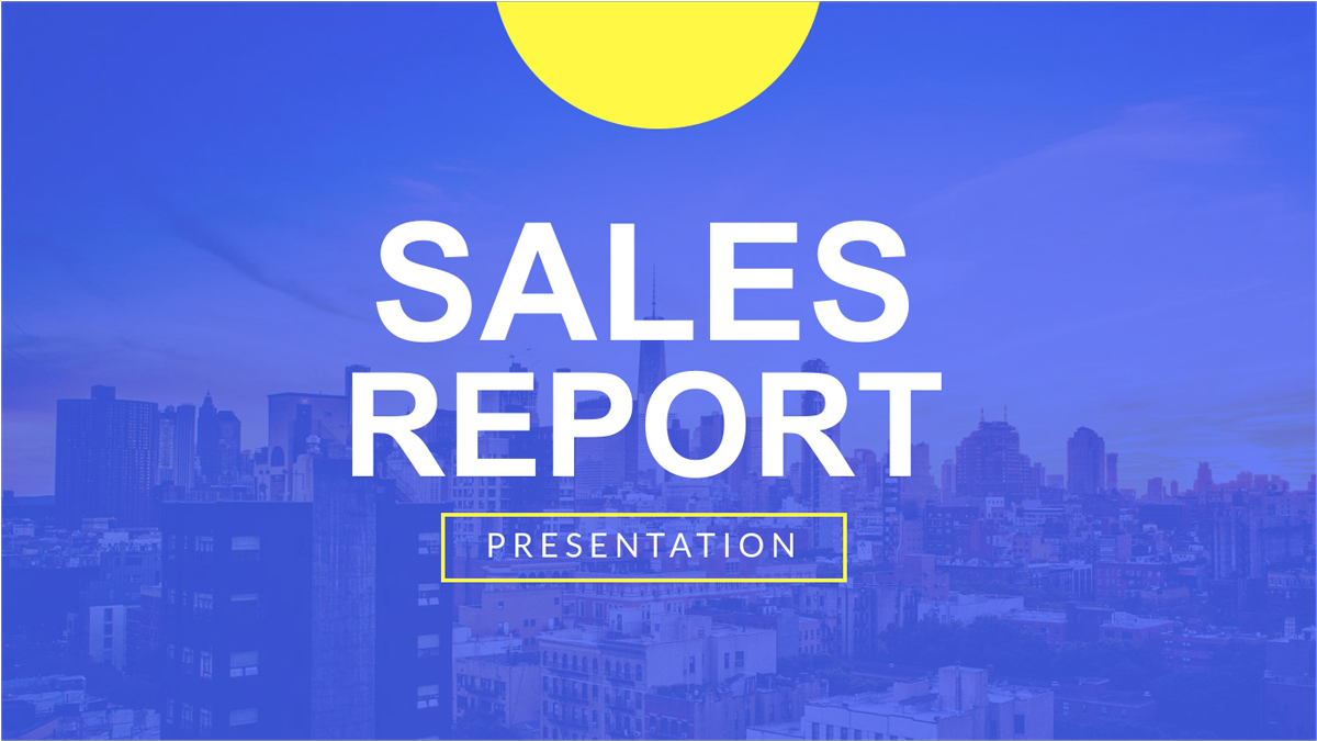 Sales-Report-Presentation-Template presentation theme