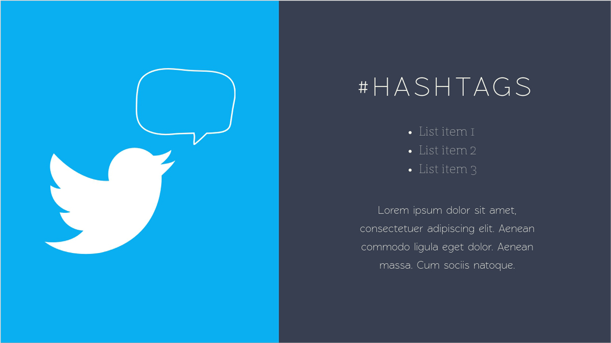 Social-Media-Report-Presentation-Template-Hashtags presentation theme