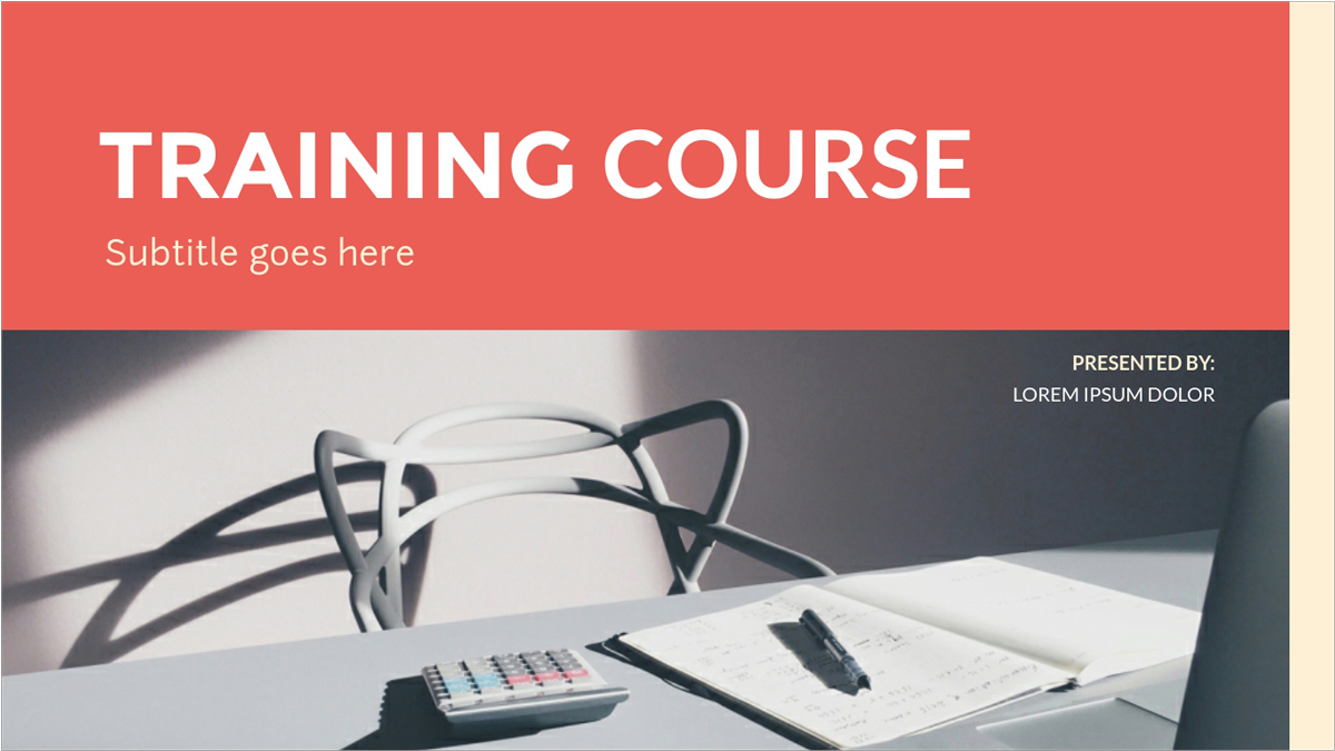 Training-Course-Presentation-Template presentation theme