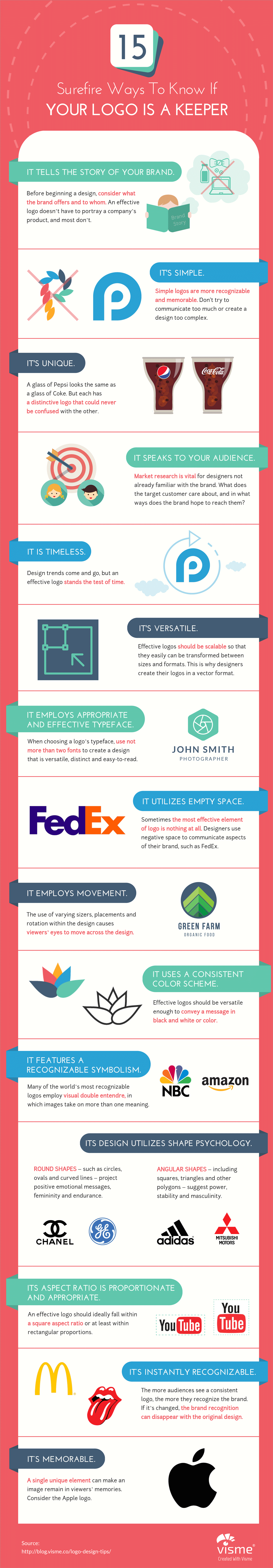 15-Surefire-Ways-to-Know-If-Your-Logo-Is-a-Keeper-Infographic logo design tips