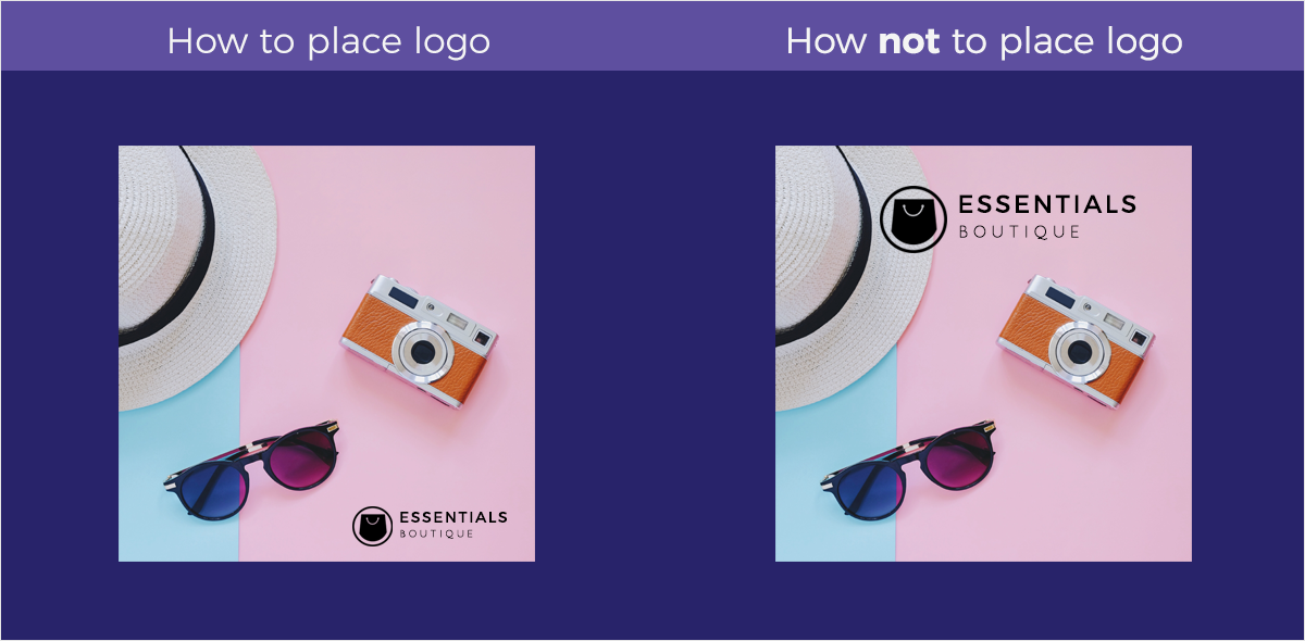 how to place logo how not to place logo brand style guide