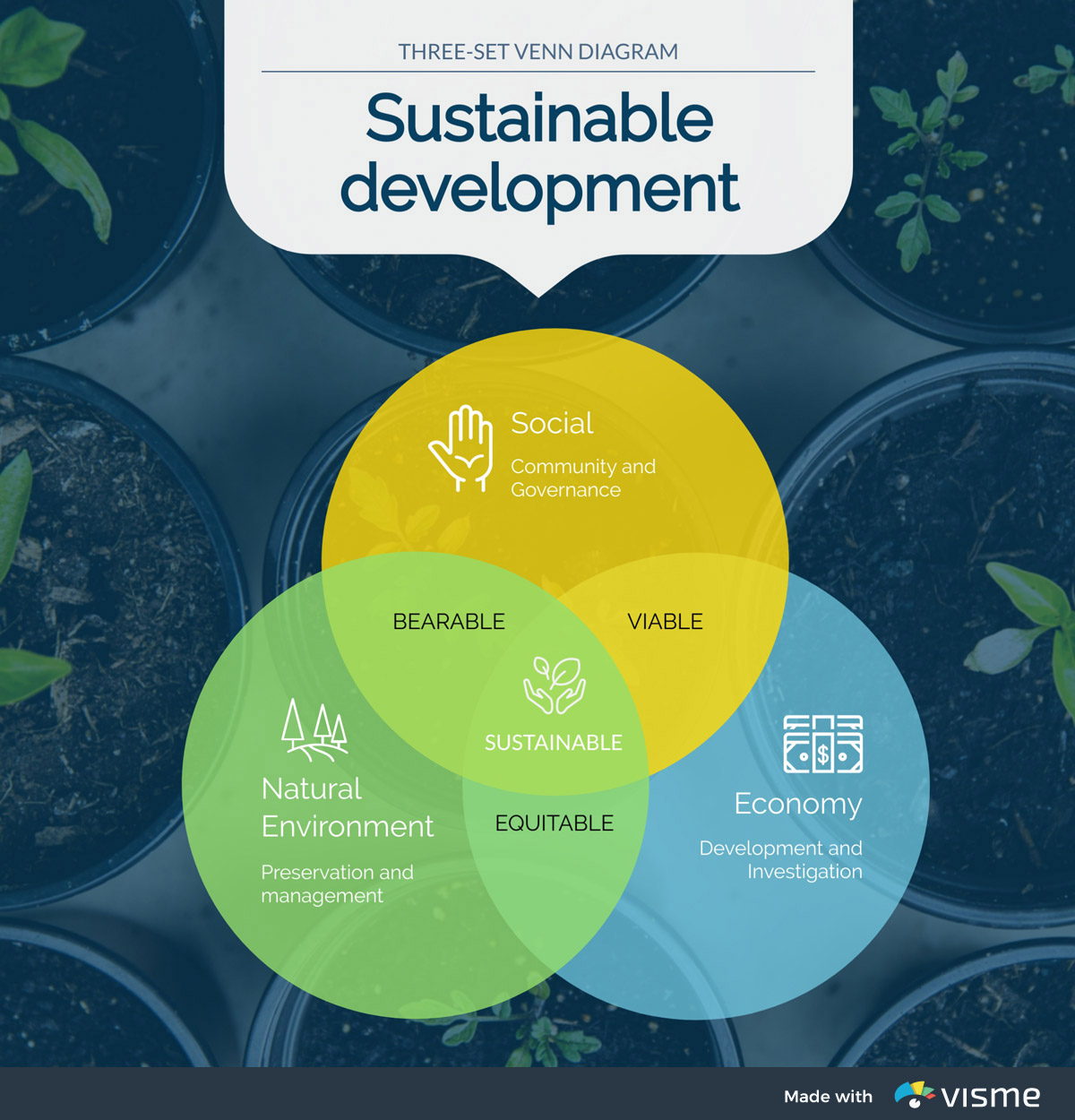 types of graphs - sustainable development venn diagram
