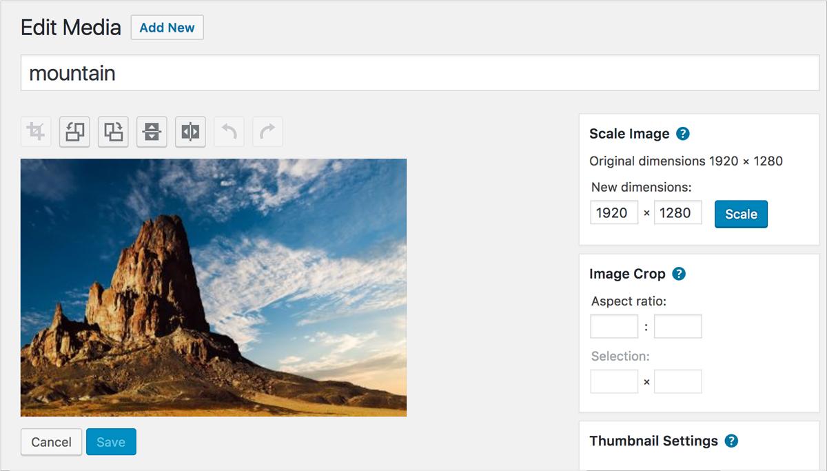 Wordpress-image-editor