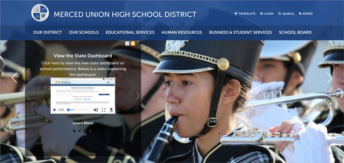 How-a-High-School-District-is-Using-Visme-to-Communicate-With-Stakeholders-merced union high school district homepage