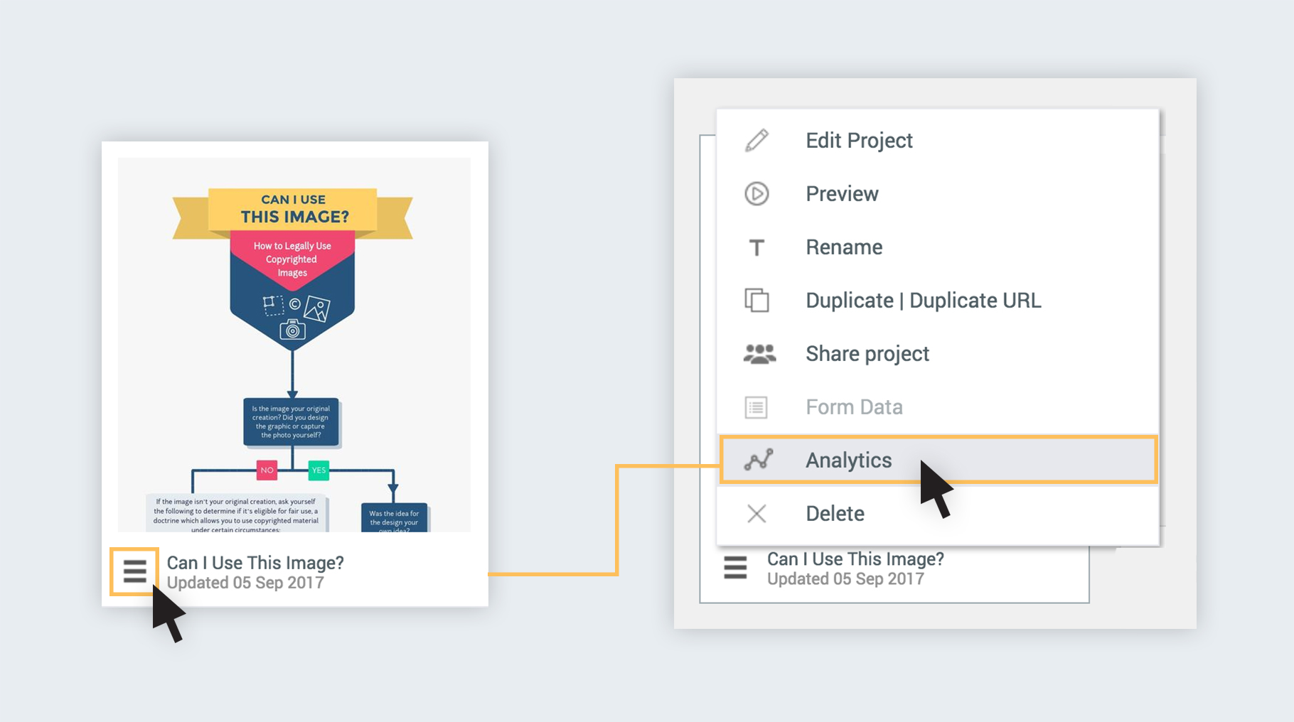 How to Measure Traffic of Presentations and Infographics in Visme access the analytics tool