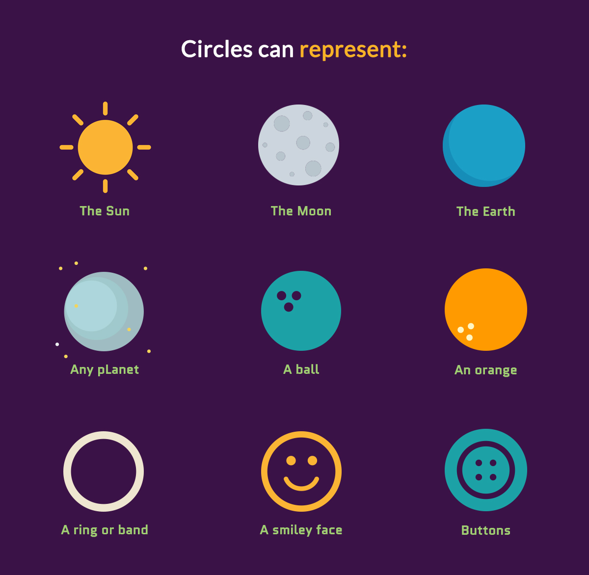 Circles-can-represent How-to-Creatively-Use-Shapes to-Make-Your-Designs-Stand-Out-geometric meanings