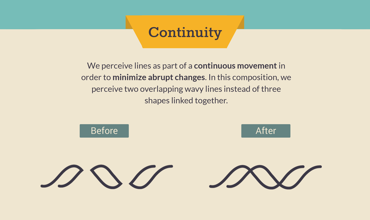 gestalt law of continuity gestalt design principles