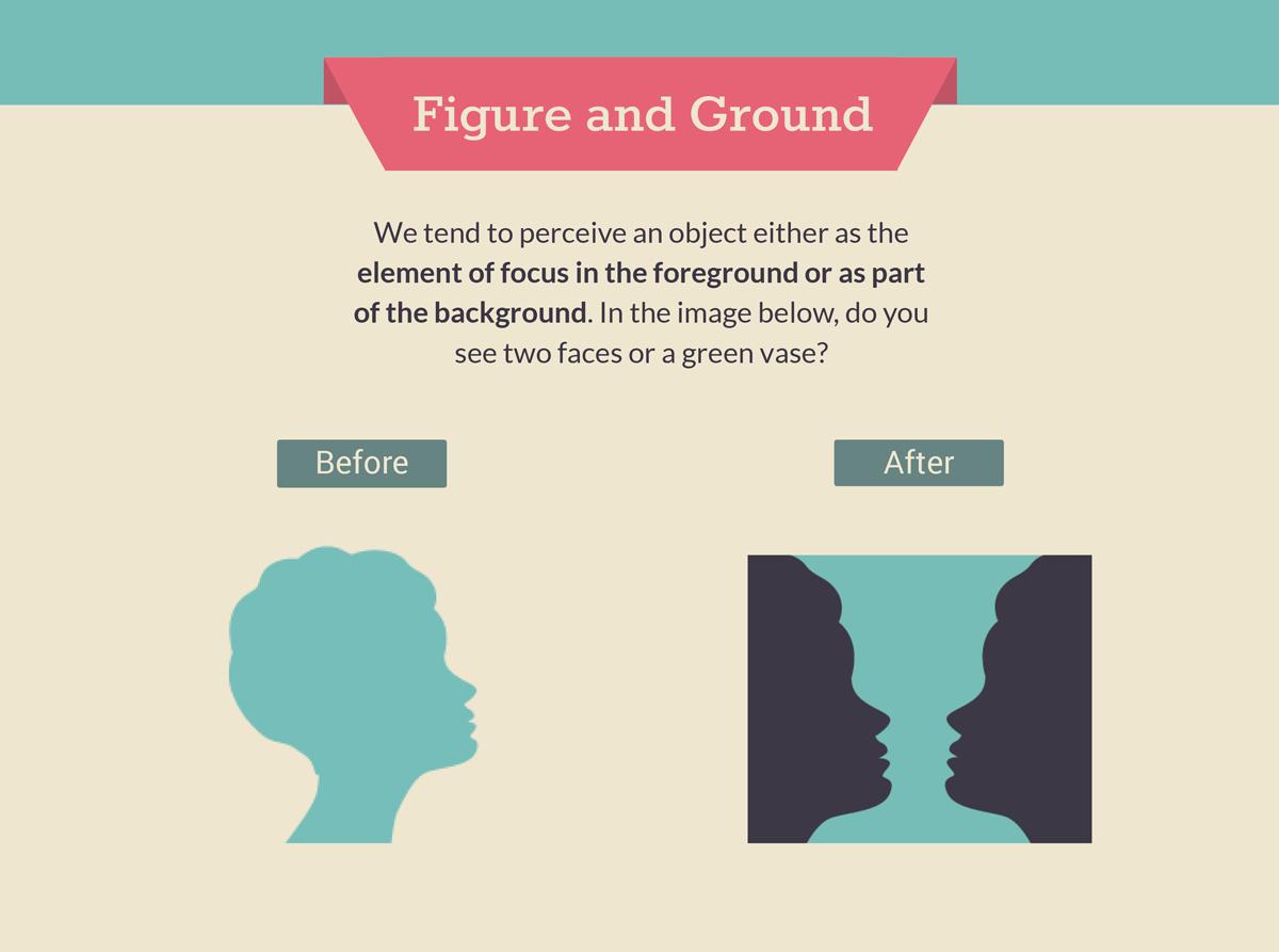 gestalt law of figure and ground gestalt design principles