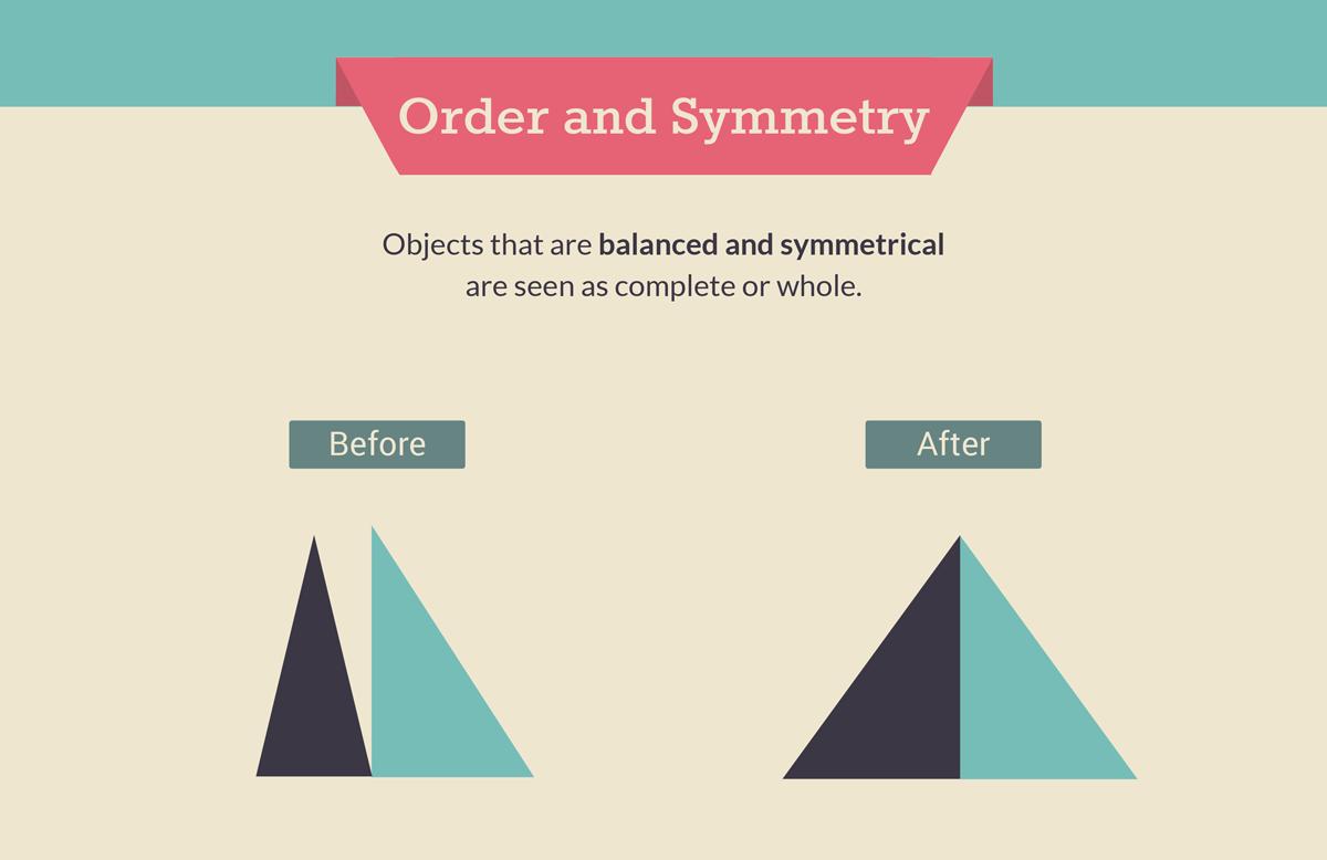 gestalt law of symmetry and order gestalt design principles