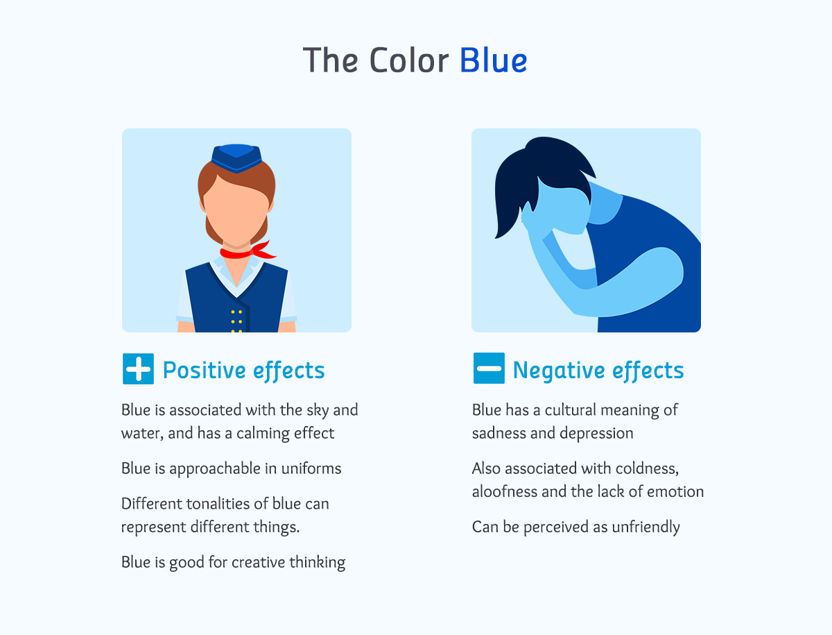 the color blue positive negative effects color meanings Real-life Examples of How Color Affects Our Perceptions of Reality