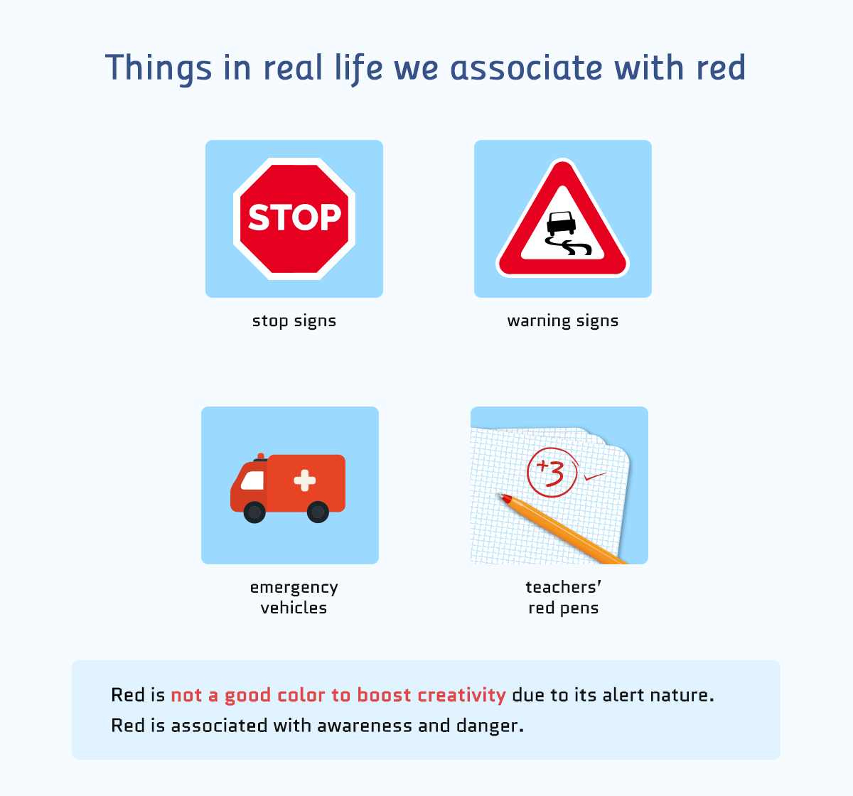 things in real life we associate with red color meanings Real-life Examples of How Color Affects Our Perceptions of Reality