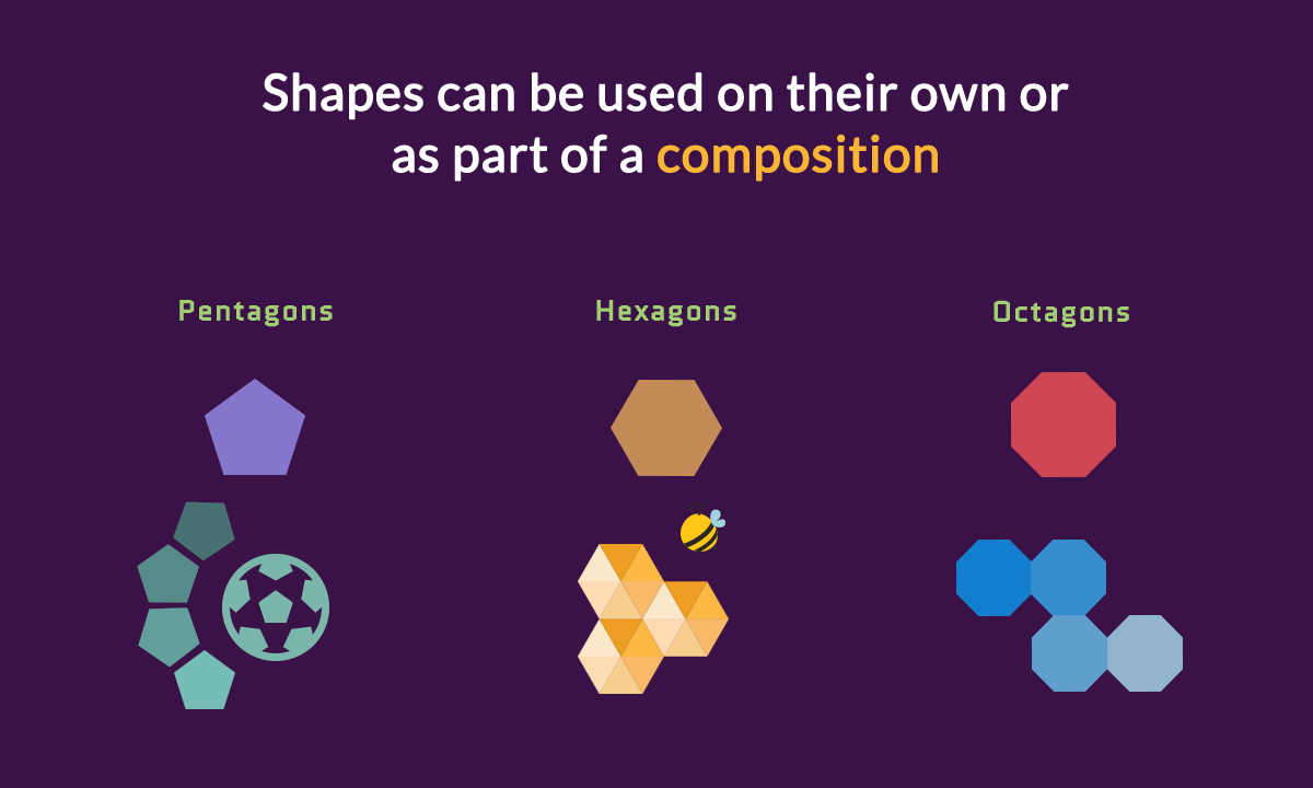 geometric meanings - shapes composition