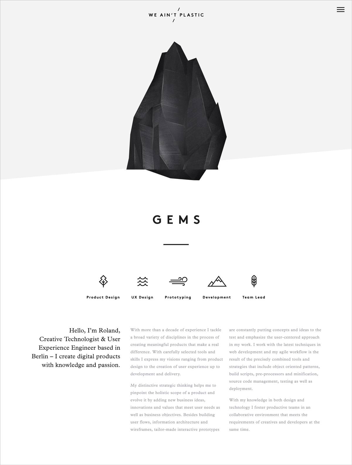 10 + -Ejemplos-de-diseño-minimalista-para-inspirar-sus-propias-creaciones-ejemplos-de-sitios-minimalistas-We-ain-t-plastic