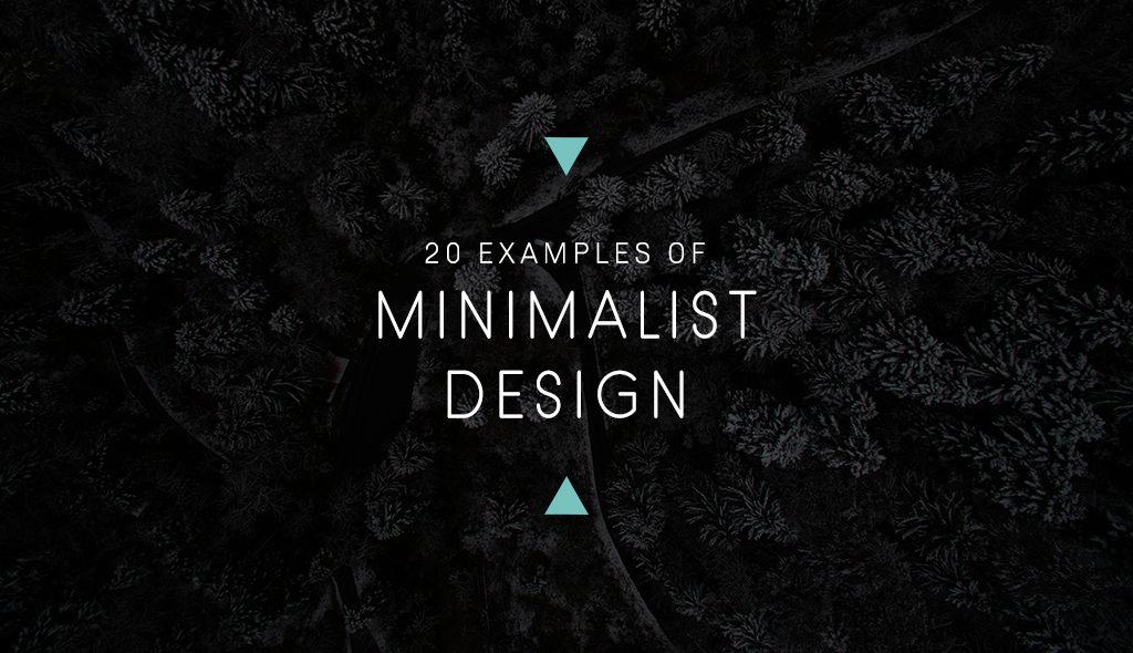 examples of minimalist graphic design