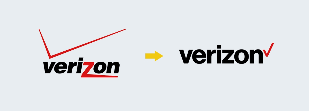 verizon logo change Rebranding Strategy