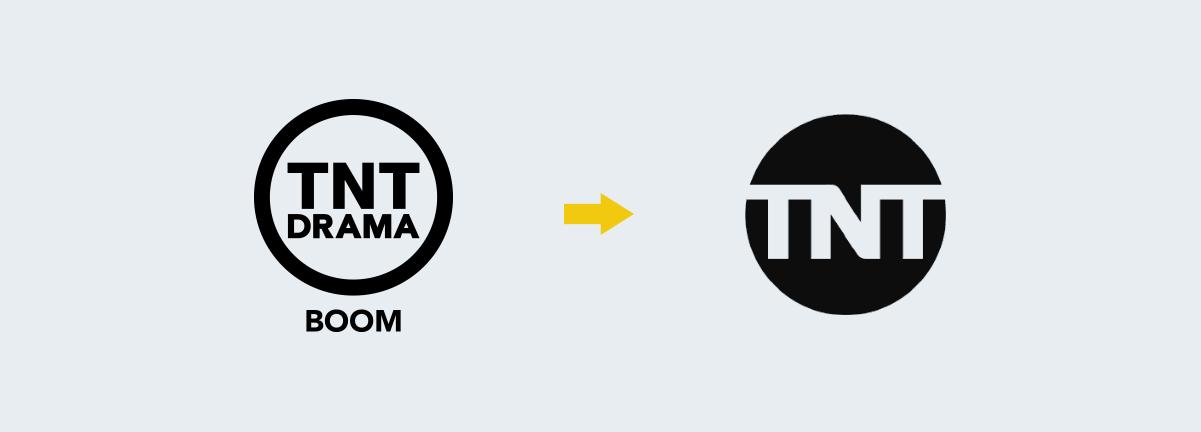 tnt logo change progression Rebranding Strategy