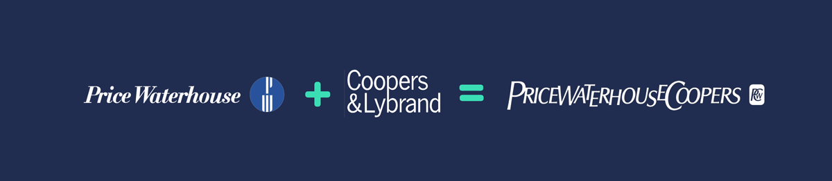 price waterhouse + coopers & lybrand = pricewaterhousecoopers Rebranding Strategy