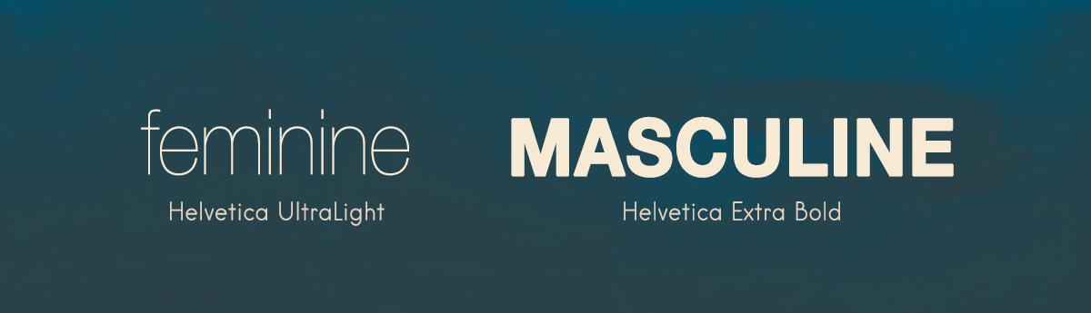 helvetica gender neutral fonts feminine masculine gender neutral design