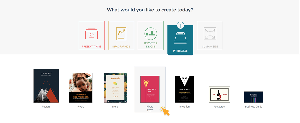 How to Make Your Own Printables With Visme sign up