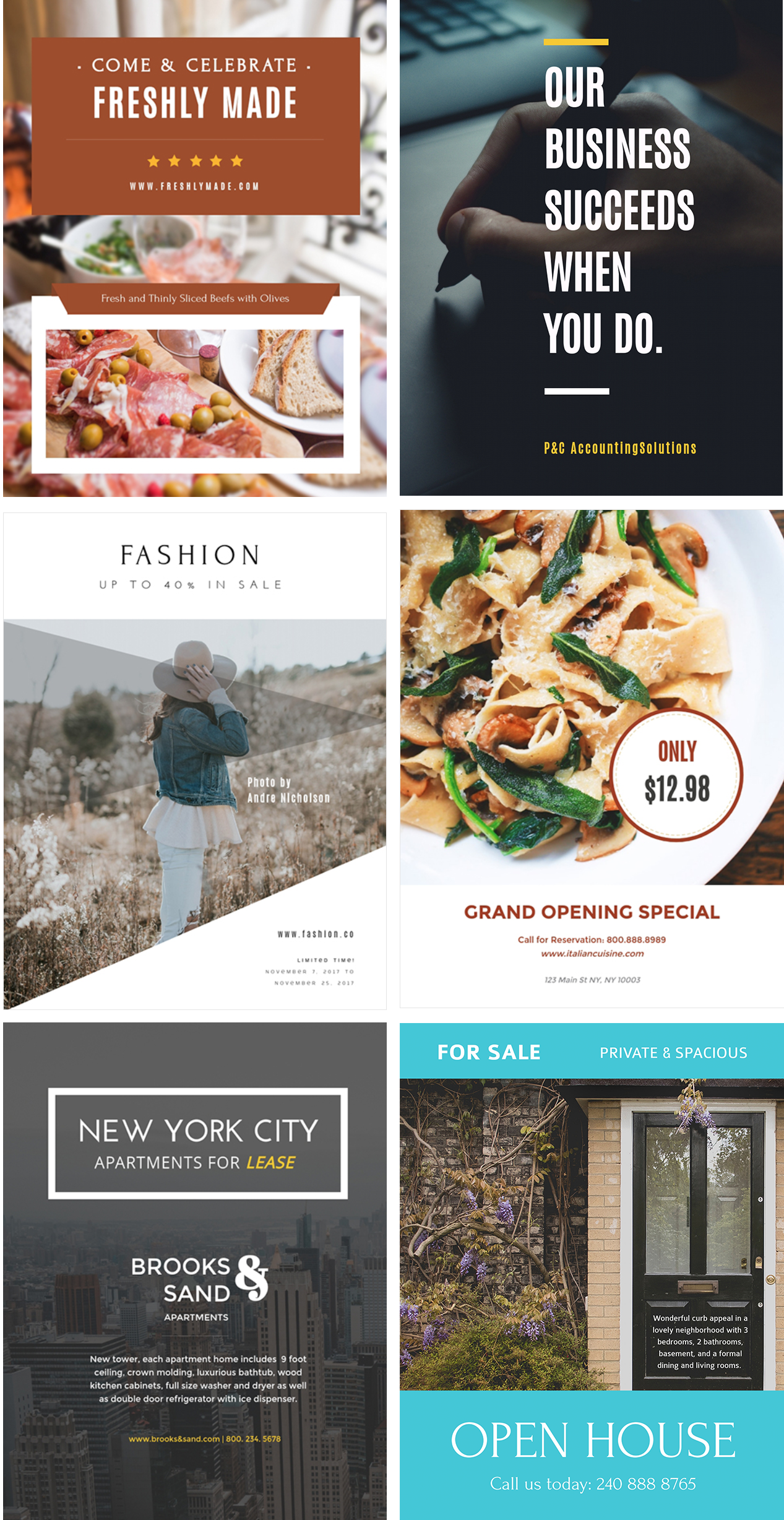 How to Make Your Own Printables With Visme flyers examples