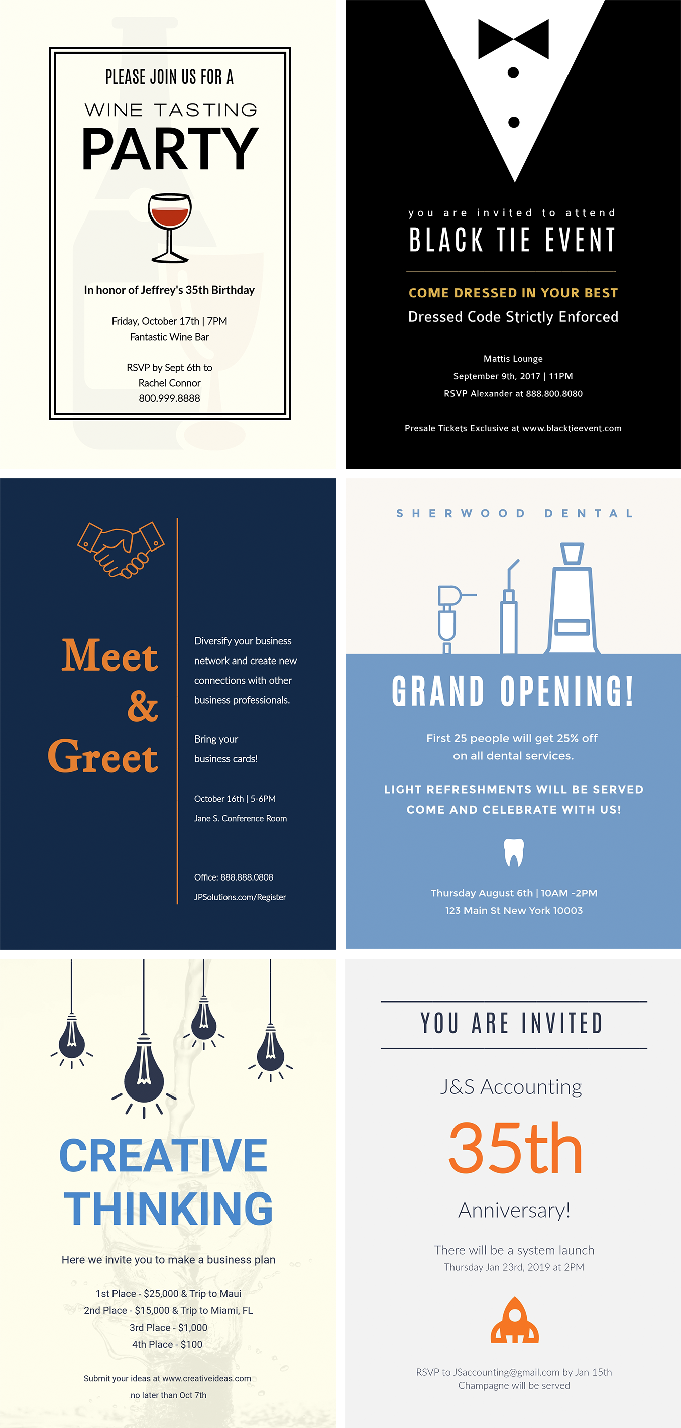 How to Make Your Own Printables With Visme invitations examples