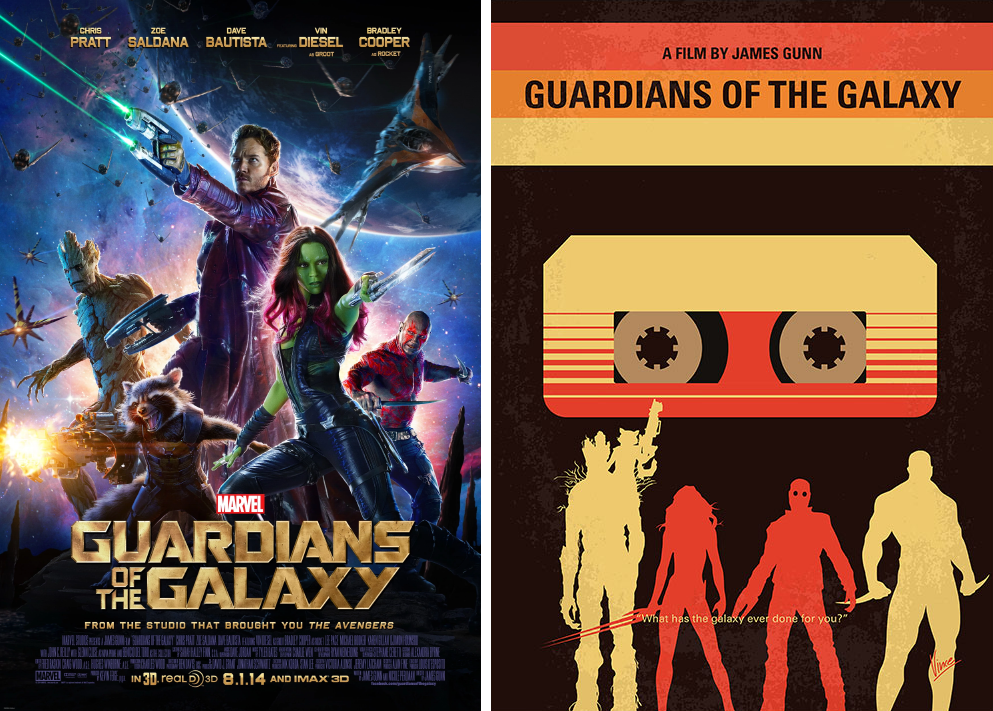 guardians of the galaxy minimalist movie posters