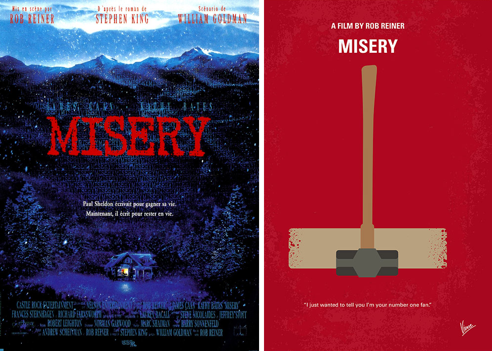 misery minimalist movie posters