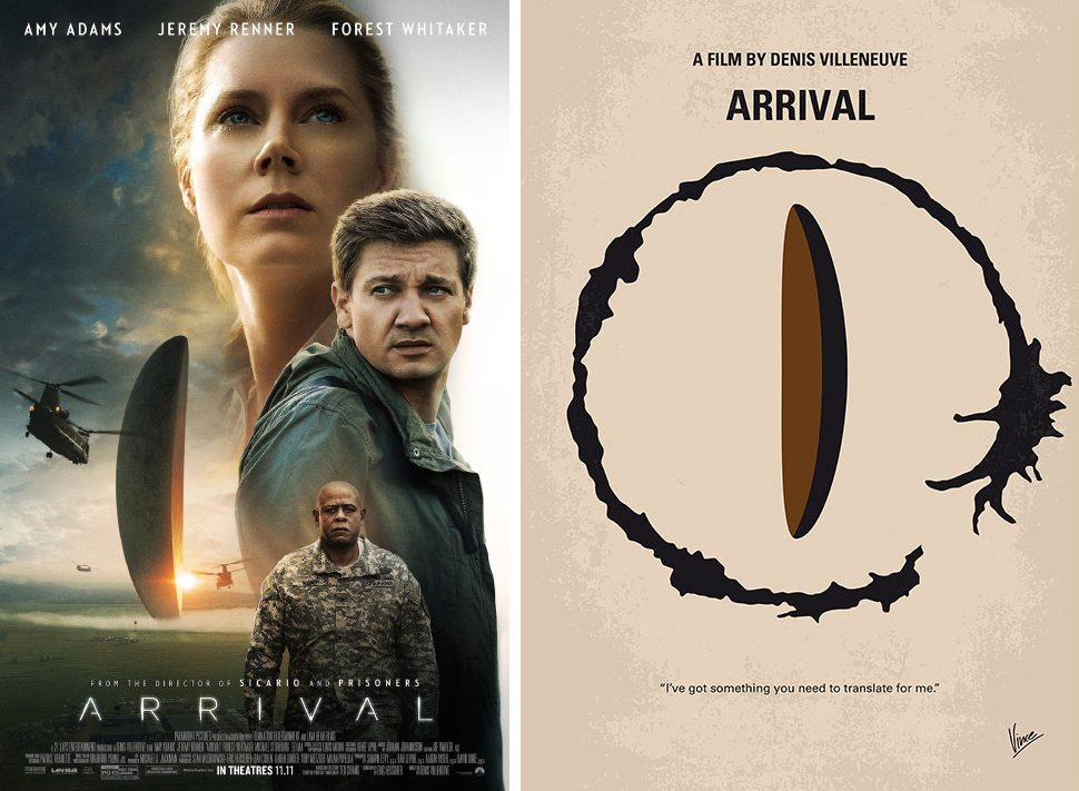 arrival minimalist movie posters