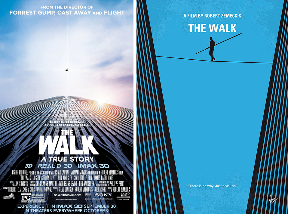 the walk minimalist movie posters