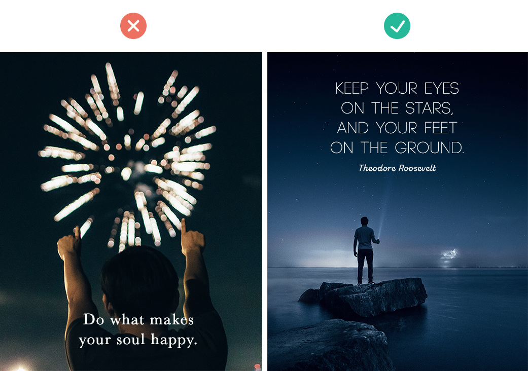 how to add text to images quick tips for creating social media graphics use negative space