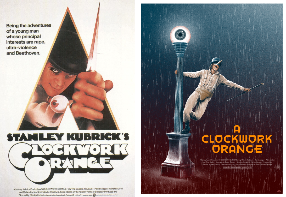 clockwork orange minimalist movie posters