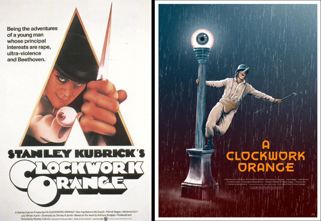 clockwork orange minimalist movie posters