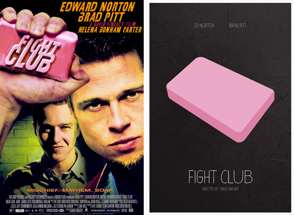 fight club minimalist movie posters
