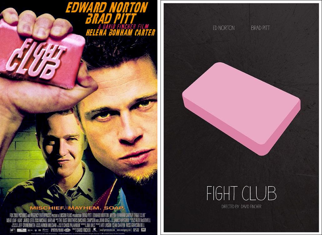 fight club minimalist movie posters
