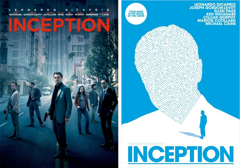 inception minimalist movie posters