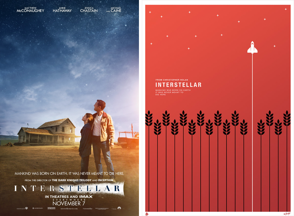 interstellar minimalist movie posters