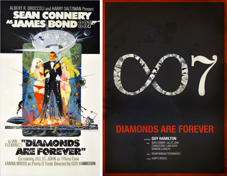 Redesigned-Movie-Posters-to-Inspire-your-Creativity-James-Bond-007---Diamonds-are-Forever