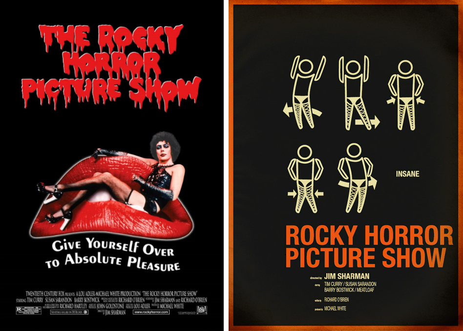rocky horror picture show minimalist movie posters