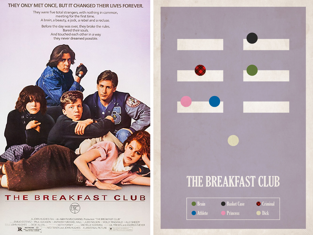the breakfast club minimalist movie posters